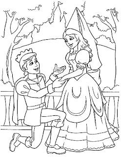 Proposición de príncipe para colorear