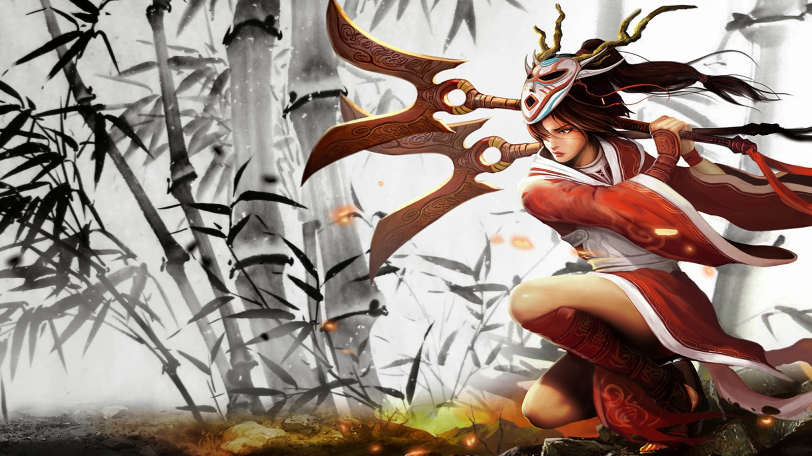 Akali League Of Legends Lol Girl Skin Splash Hd Wallpaper