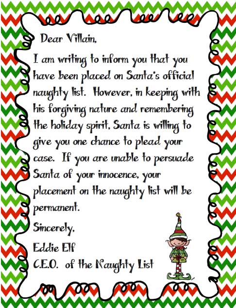 last week we had a lot of fun writing persuasive letters to santa from the point of view of a particular villain from a popular childrens fairy tale