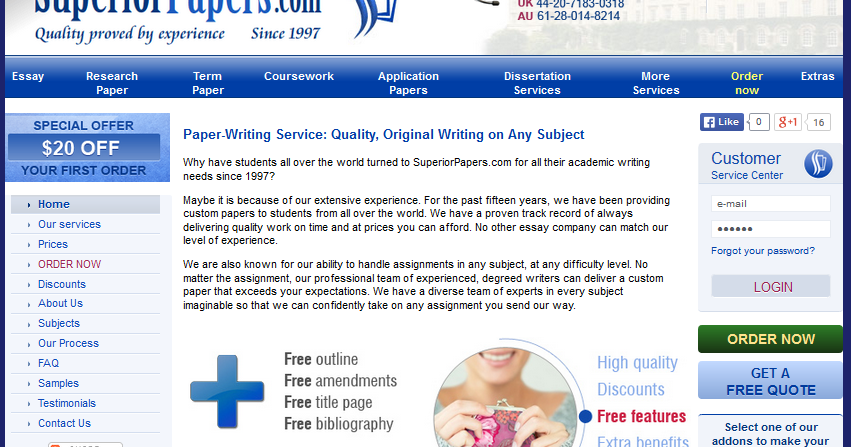 Paper writing service superiorpapers