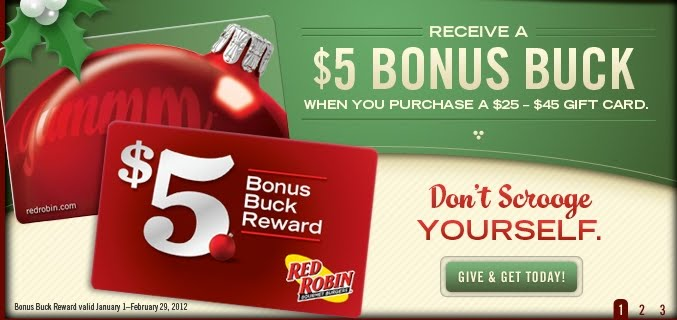 red robin gift card promotion - Christmas Gift Card Deals