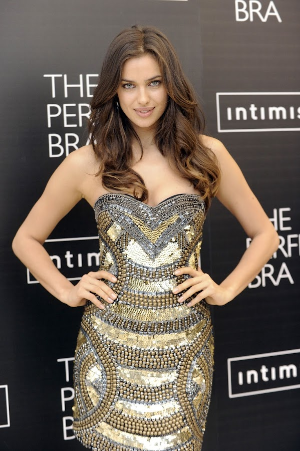 Irina Shayk 2012 photo from Madrid promotion of Intimissimi's new book The Perfect Bra