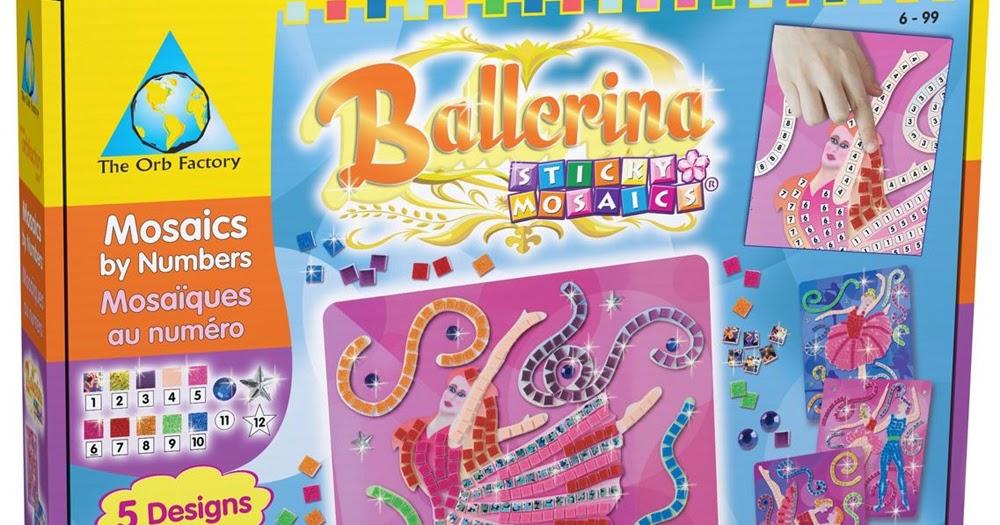 Les Mercredis de Julie : Mosaique Autocollante Ballerine