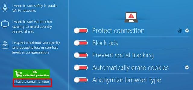Get a FREE serial number for Steganos Online Shield VPN