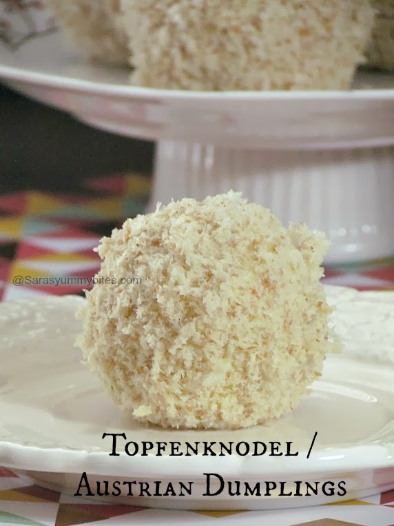 Topfenknodel / Austrian Cottage Cheese  Dumplings