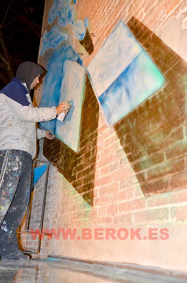 Pintura mural trampantojo Barcelona