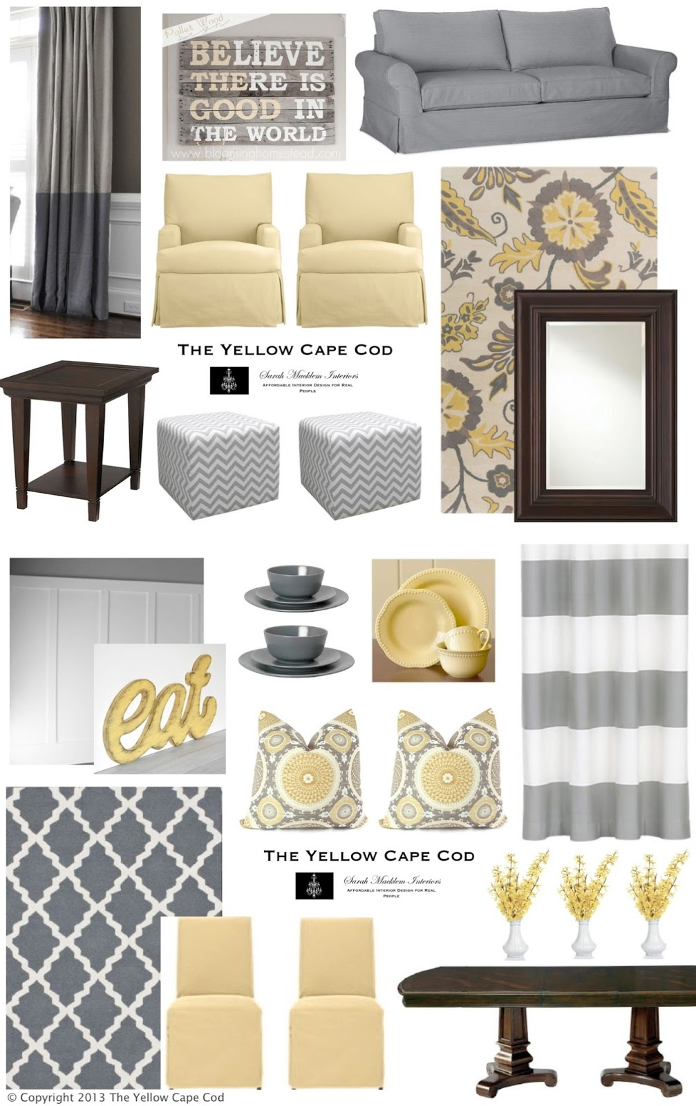 The yellow cape cod cheerful child and pet friendly for Living room yellow and gray