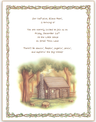 A path made straight party at the little house in the little woods the invitation template found here stopboris Gallery