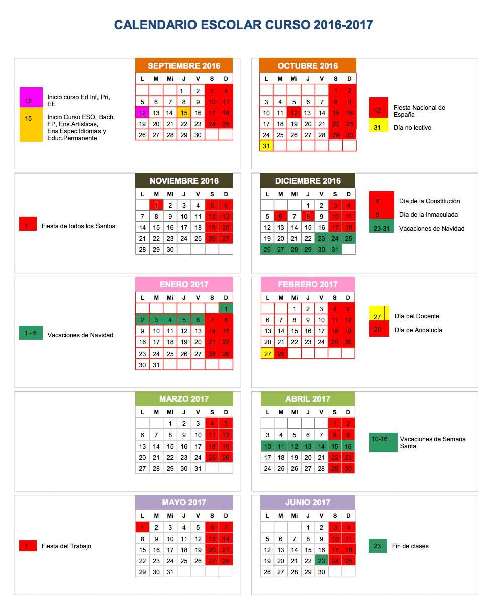 CALENDARIO ESCOLAR 16_17