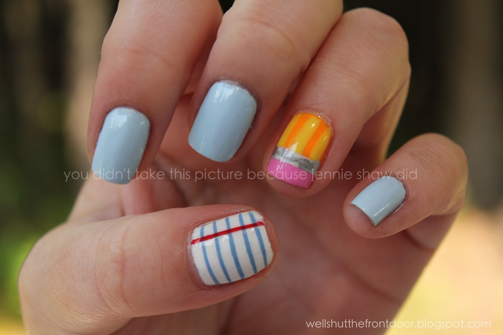 jennie\'s nails and tales: The Nail Files: Back-To-School Video Tutorial