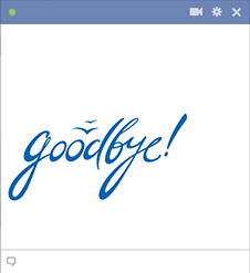 Goodbye Facebook emoticon