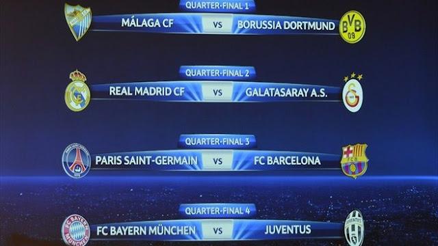 Jadwal Babak 8 Besar Liga Champions Terbaru 2013