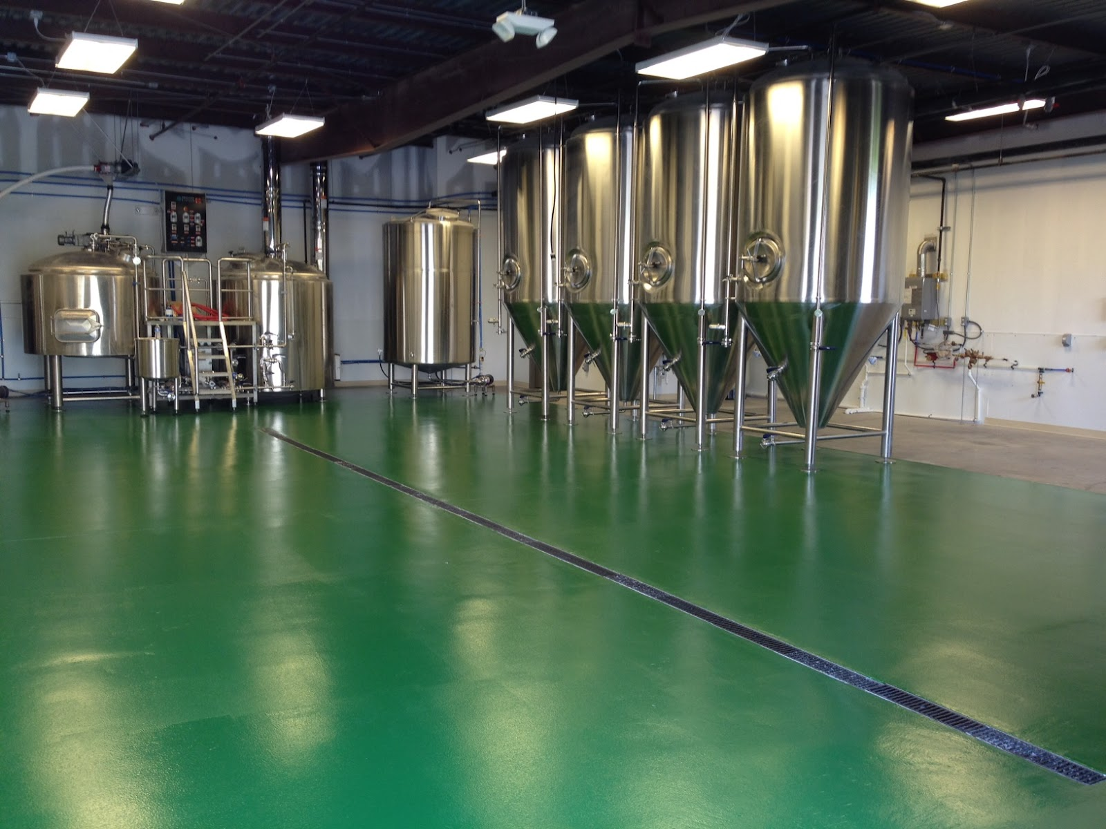 Green Floor turtle anarchy brewing company: green floors!!!