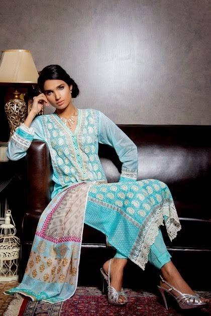 Khaadi Thread Embroidered Dresses