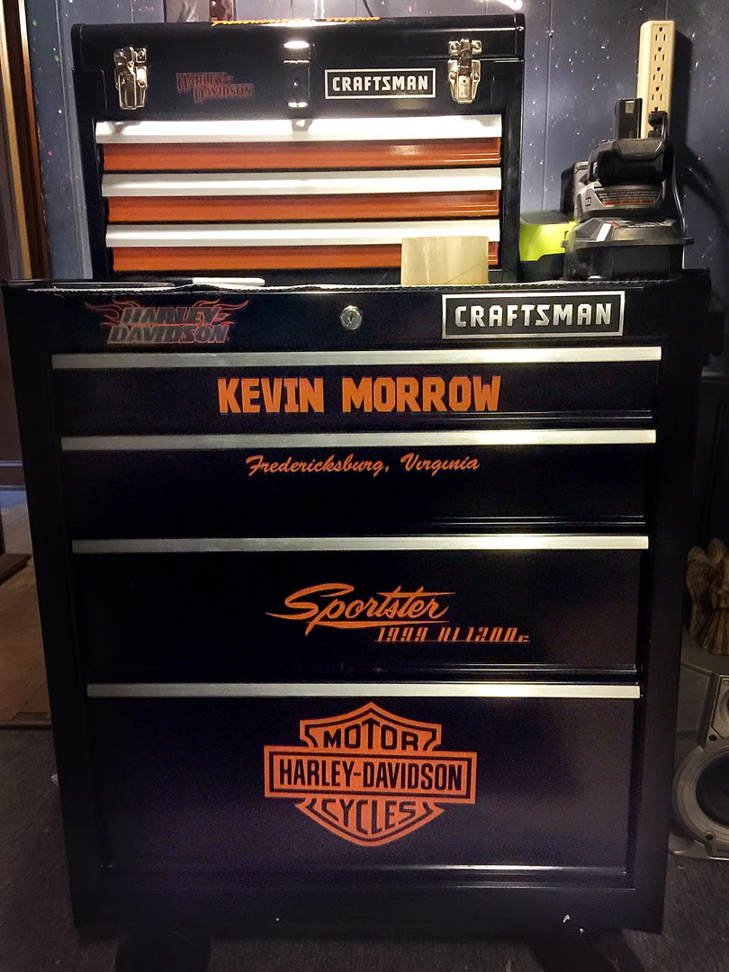 Kevin S Xl Softail Disc Golf Chronicles Tool Box Is Done