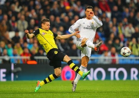 Video Cuplikan Gol Madrid VS Borusia Dortmund 3-0 (2/4/2014)