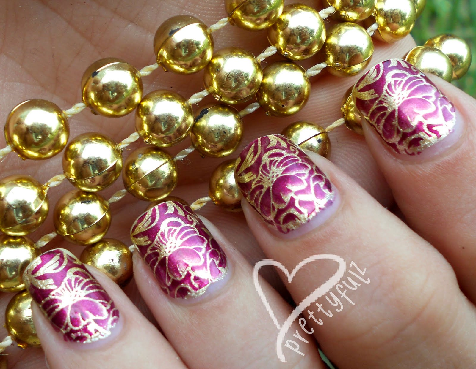 Hibiscus flower with nail polish by Cute Nails YouTube - hawaiian flower nail art designs