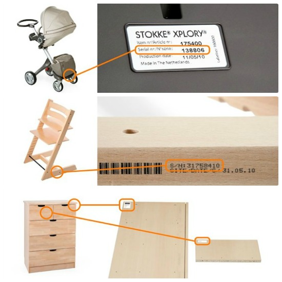 How To find your Stokke® serial number