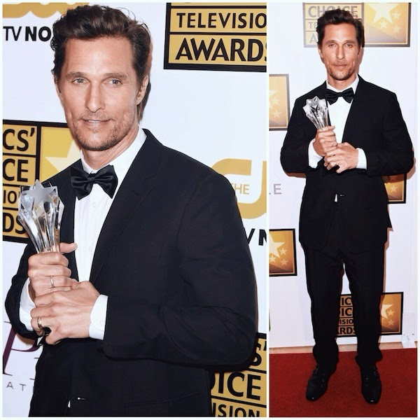 Matthew McConaughey ERMENEGILDO ZEGNA COUTURE suit tuxedo 4th Annual Critics Choice Television Awards