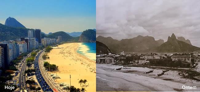 Copacabana, uma das mais famosas  do mundo.
