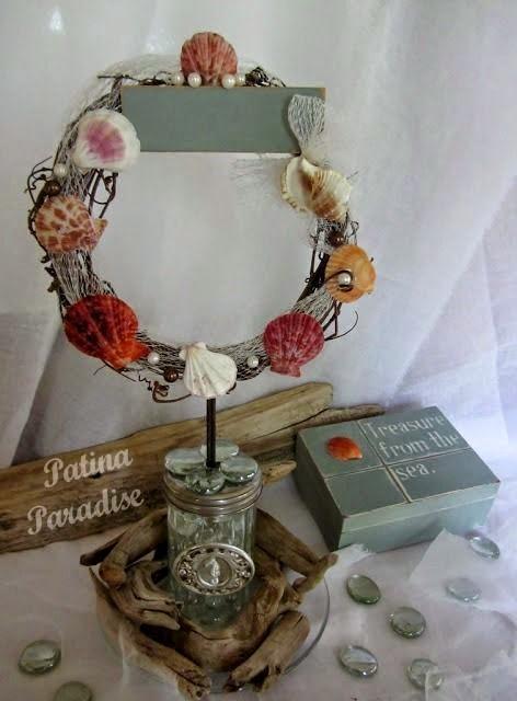 Summer Wedding Ideas: Beach Theme Centerpiece