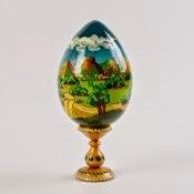 Arizona Theme Wooden Painted Egg from Russia