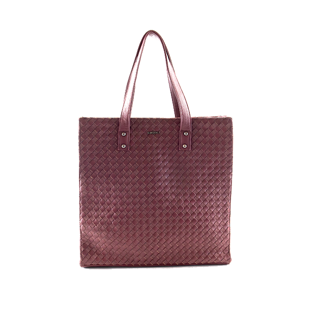 Bissu Shopping bag con textura trenzada