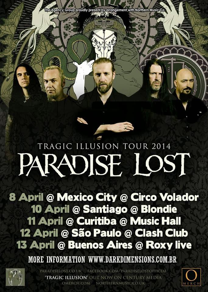 Paradise Lost Brazil tour 2014