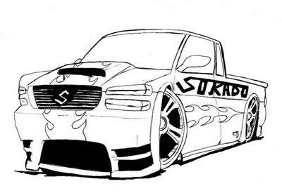 Baú da Web: Desenhos de Carros para Colorir