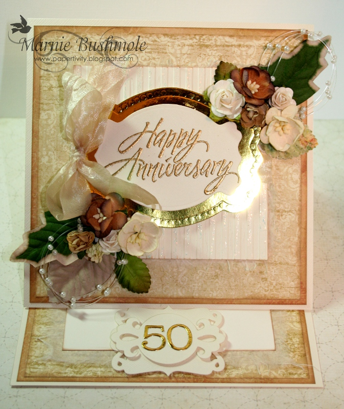 Papertivity 50th wedding anniversary card for What is 50th wedding anniversary