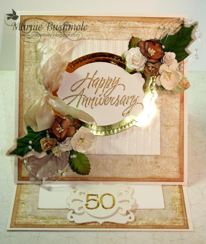 Papertivity th wedding anniversary card