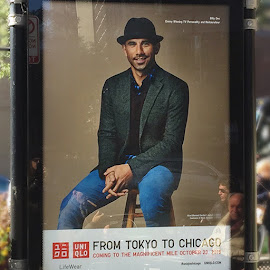 Ran into Billy Dec in the Viagra Circle-starring in bus poster for Uniqlo.