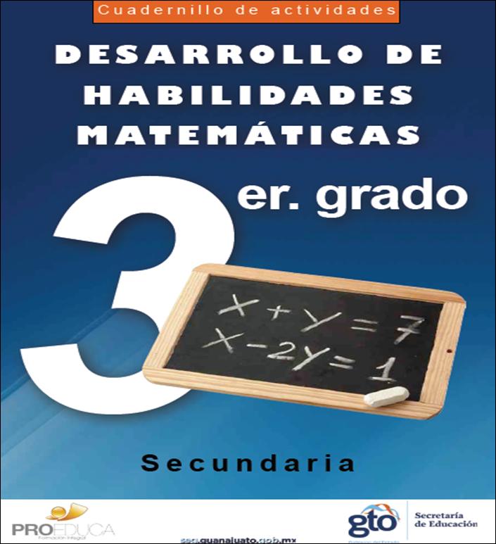 Cuadernillo de actividades para el desarrollo de habilidades matemáticas para Tercero de Secundaria