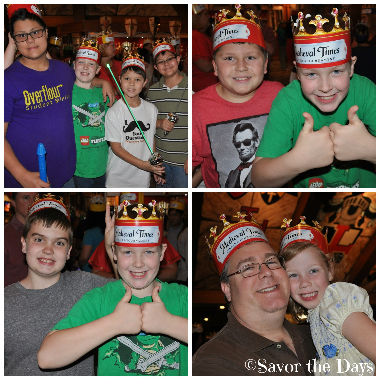 Kids having fun at Medieval Times in Dallas