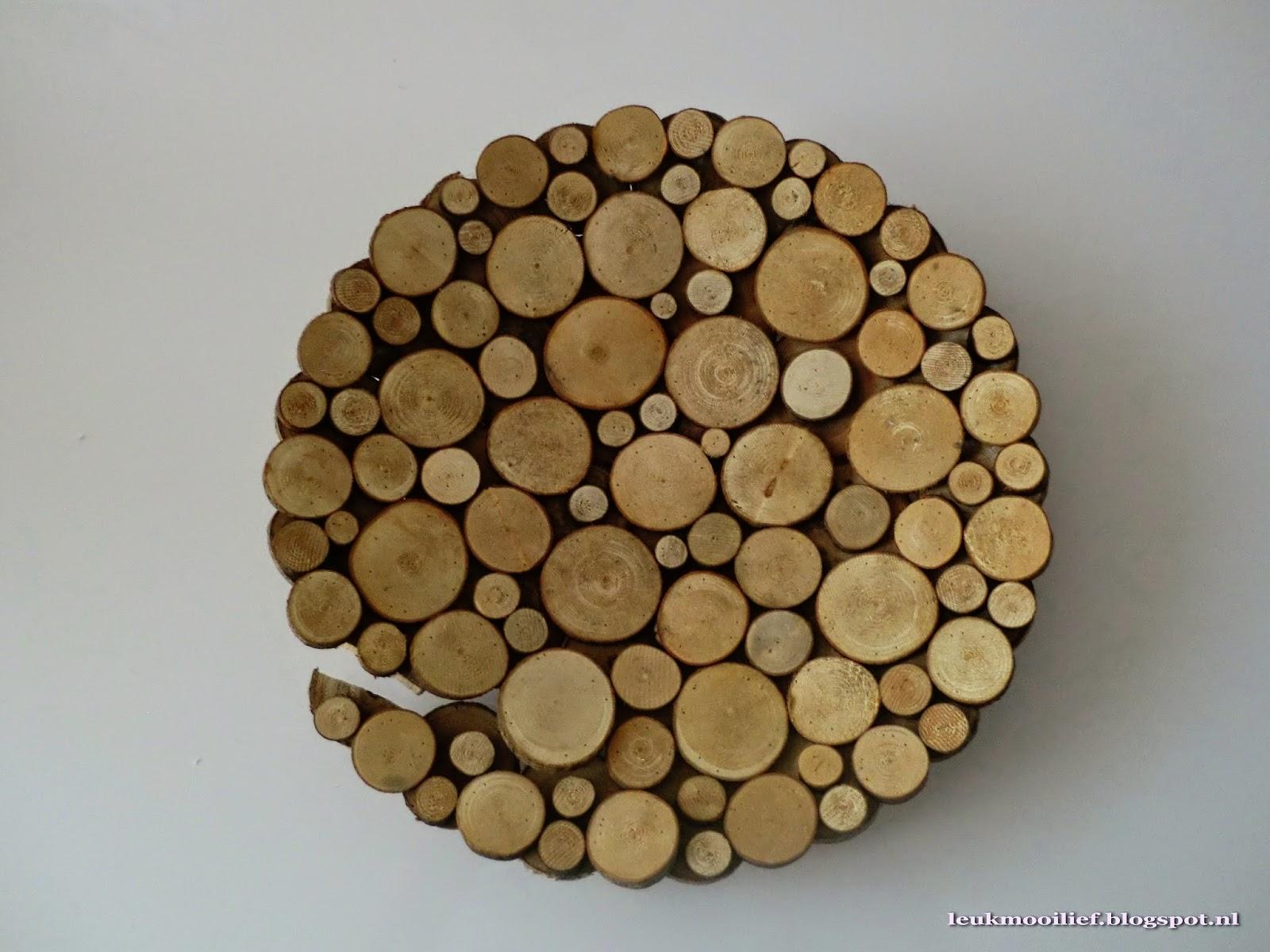 Leuk mooi lief simpele schalen for Houten schijven decoratie