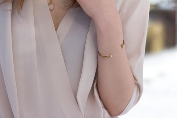 quartz pendant, minimal jewelry, studded, leather skirt, draped blouse, felt hat, marsala, oxblood, winter style, calgary fashion, amanda uprichard, ladakh x revolve