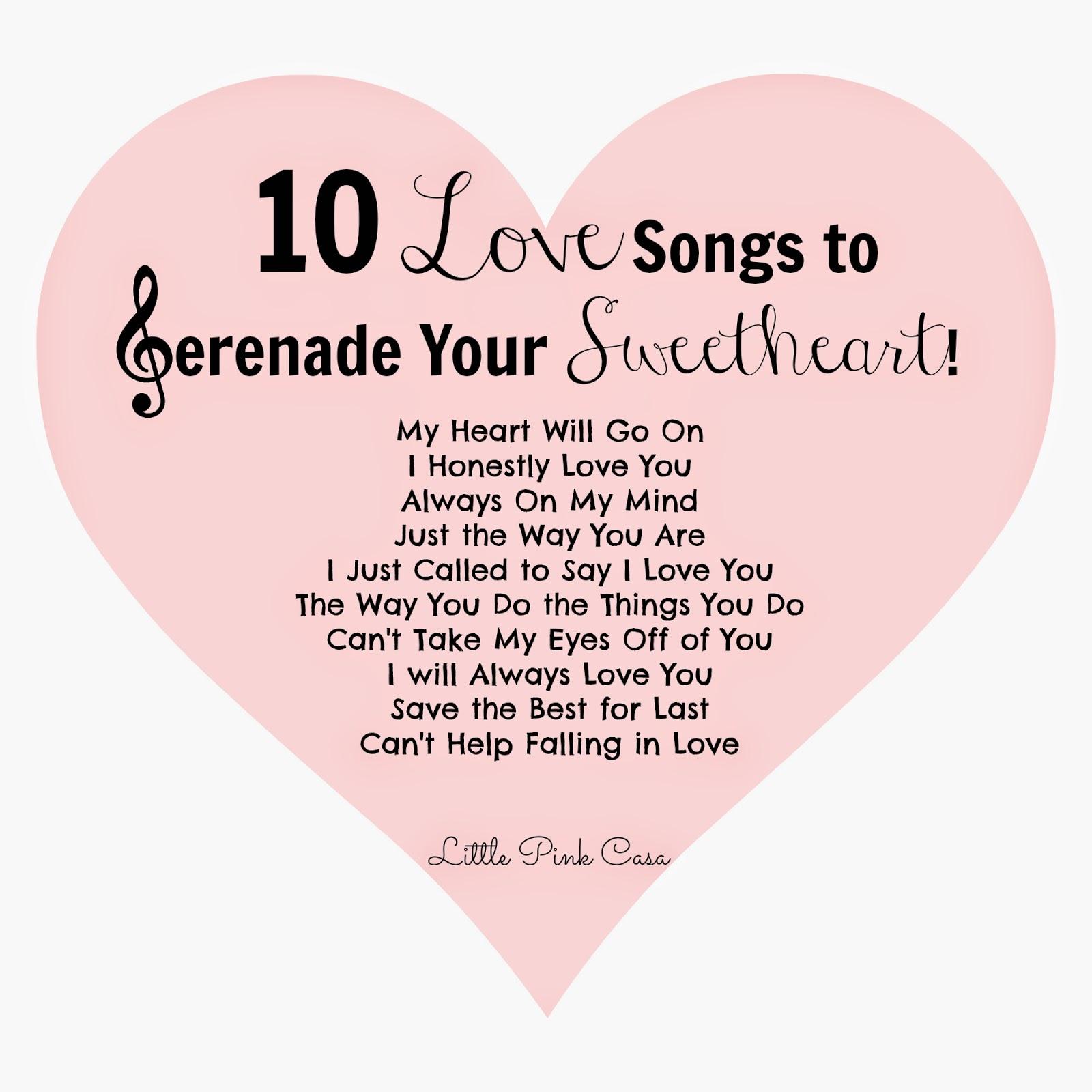 good serenade songs