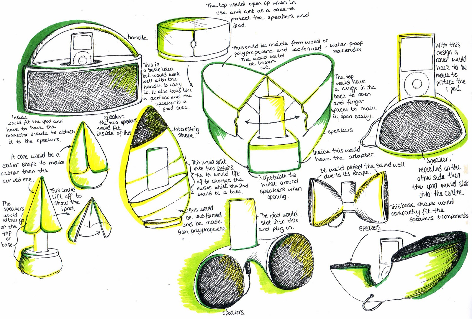 1080513417: Product Design- Solar Light and Portable I-pod Speakers