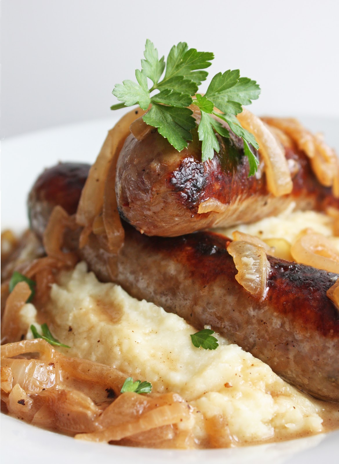 Bangers and Mash (Low Carb and Gluten Free) | I Breathe I'm Hungry