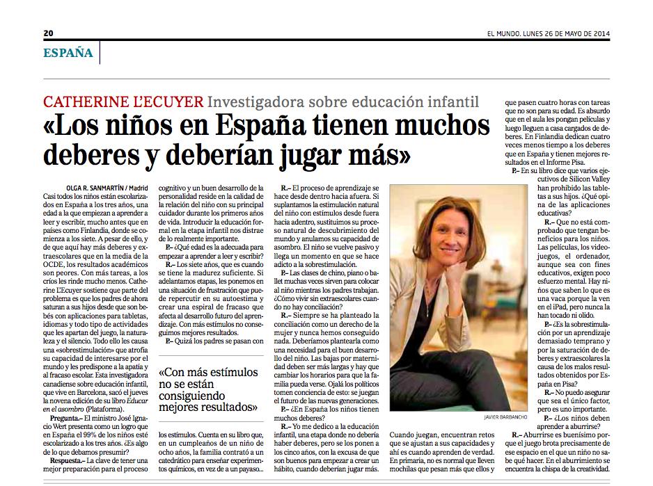 Entrevista EL MUNDO