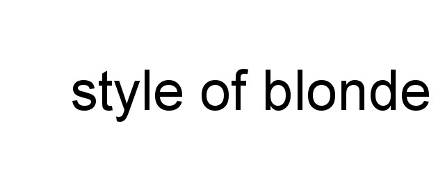 style of blonde
