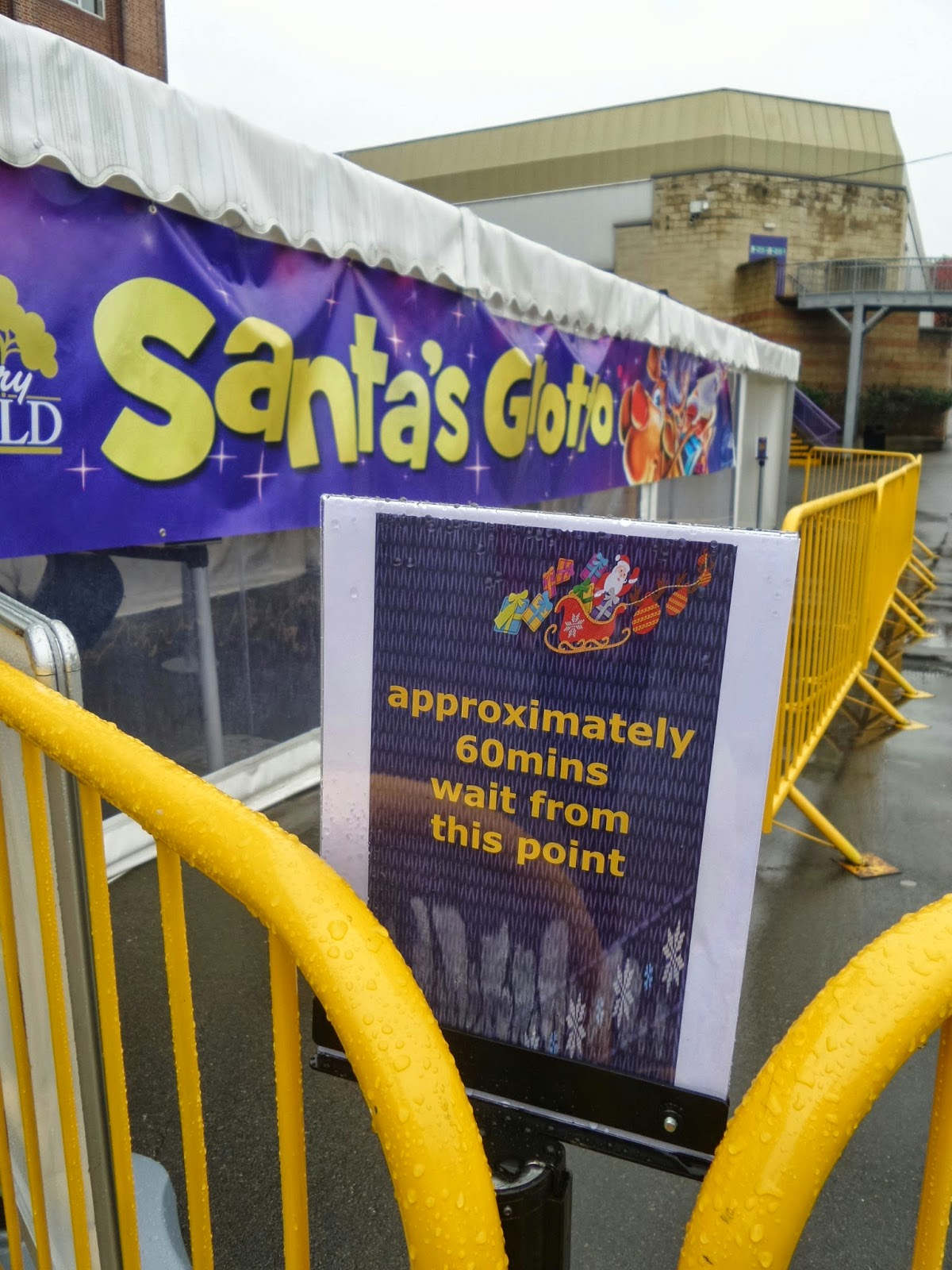 Queues can build up at Santa's Grotto, but it's quite fast moving
