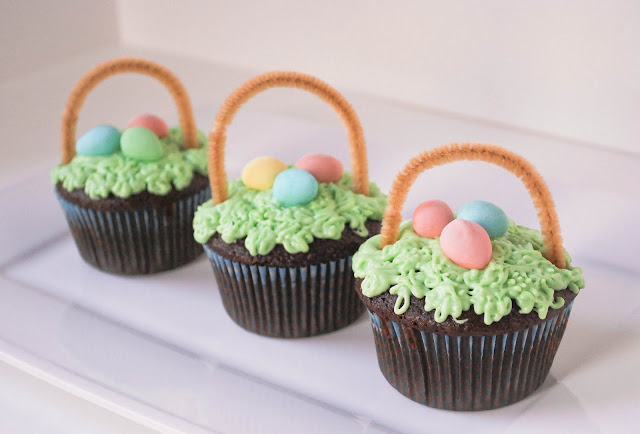 Easter Basket Cupcakes from the Fig Tree