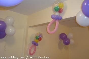 chupetas de balões
