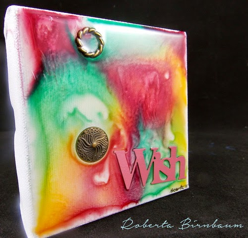 ETI Wish Resin canvas Roberta Birnbaum