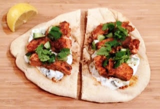 Jamie Oliver curry salmon and naan