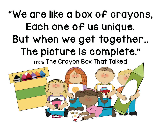 The crayon box that talked ersity lesson