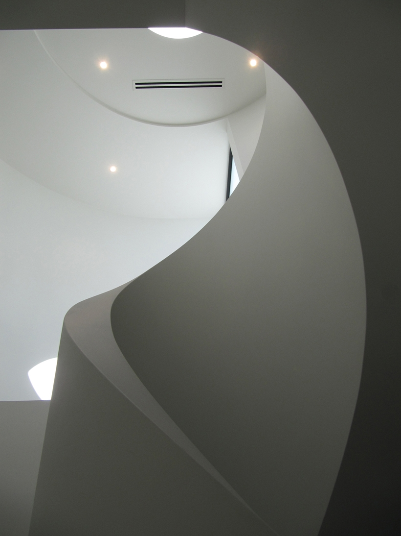 Modern stairs in Perfect Modern Townhouse by Martin Friedrich Architects