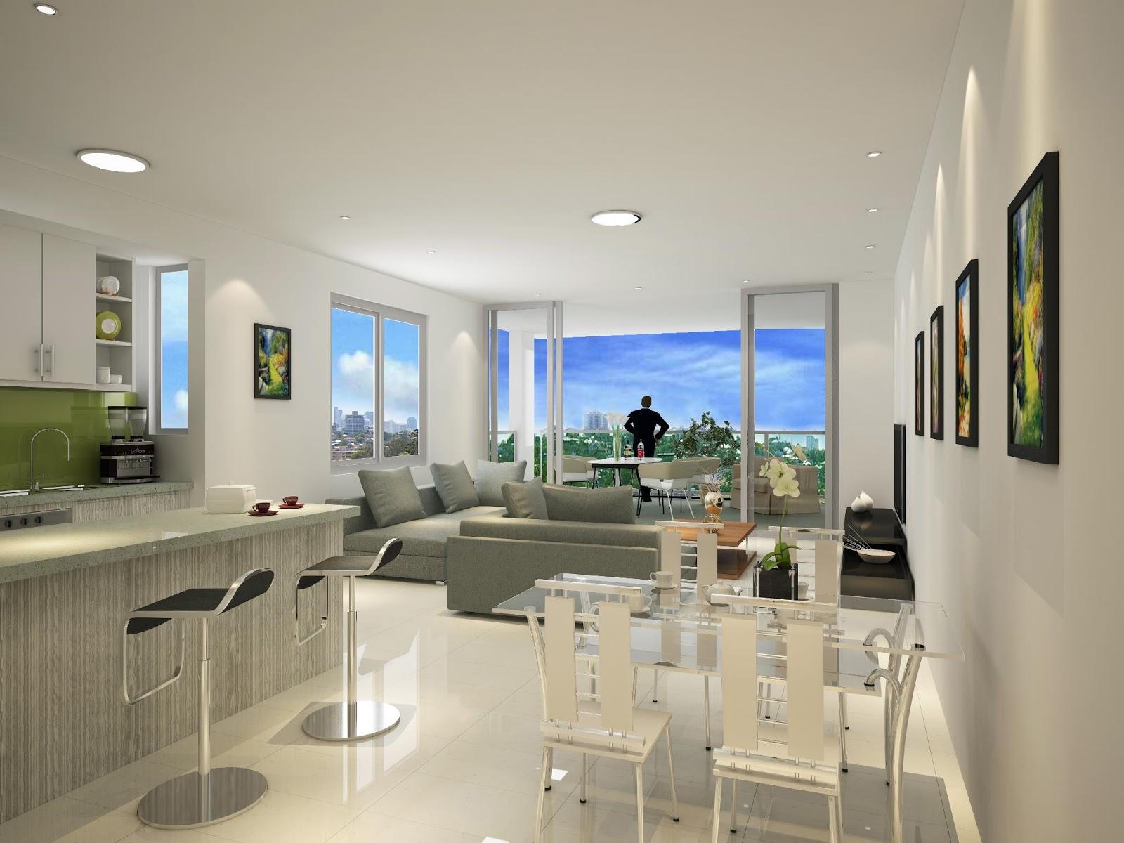 Construindo minha casa clean salas modernas de estar e for Salas modernas pequenas para apartamentos