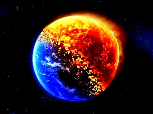 Prepare to meet the lord the entire earth will be on fire - Intire decrution ...